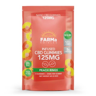 FARMa CBD Peach Rings Gummies 125mg