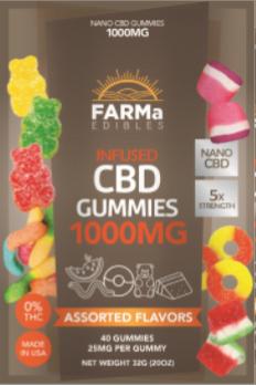 FARMa CBD Edible Gummies 1000mg MIxed