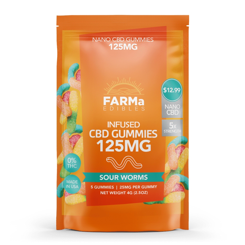 FARMa CBD Sour Worms Gummies 125mg