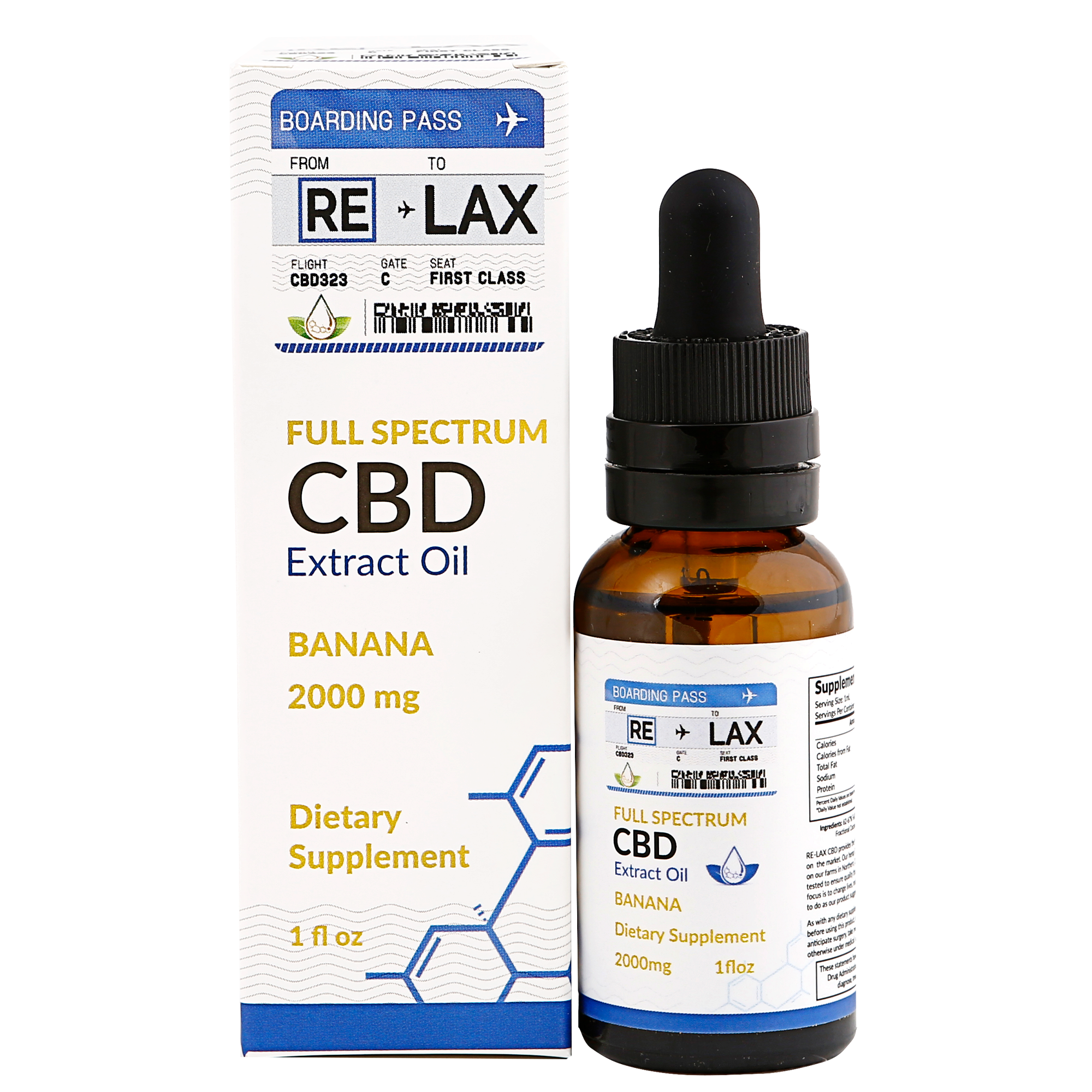 Banana ReLax CBD Oils 2000mg