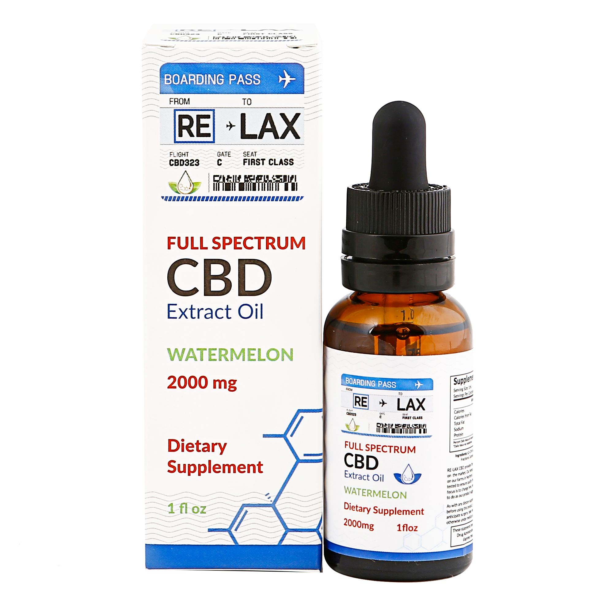 RE-LAX CBD Oil – Watermelon 2000mg