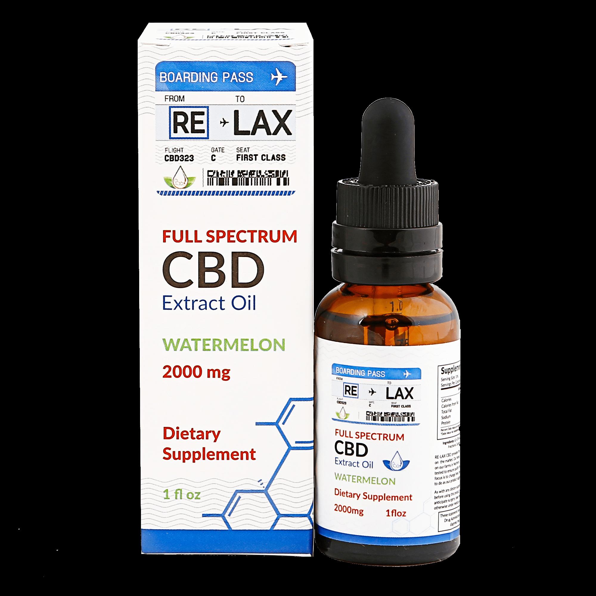 RE-LAX CBD Oil – Watermelon 2000mg
