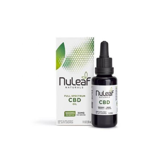 NuLeaf Naturals CBD Tincture 1800mg CBD (30ml)