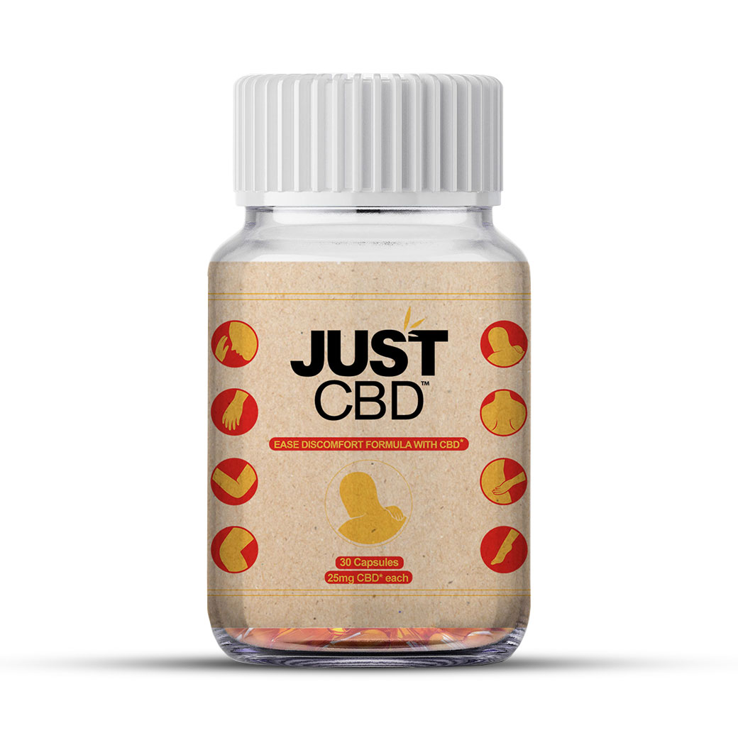 JustCBD Capsules Ease Discomfort Formula
