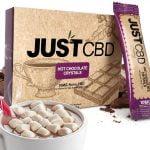 JustCBD CBD Chocolate Crystals 10x10mg packets