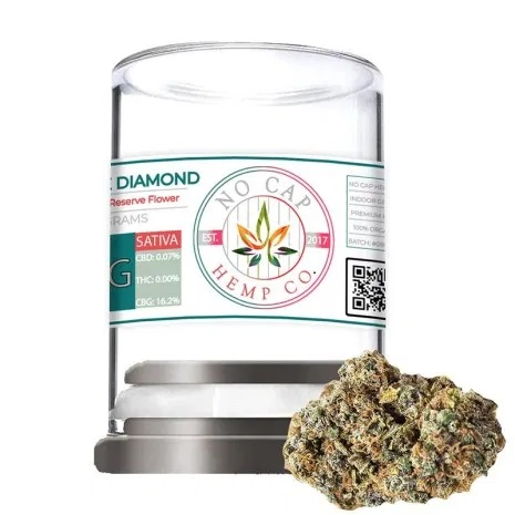 NoCap White Diamond CBG Flower 28grams