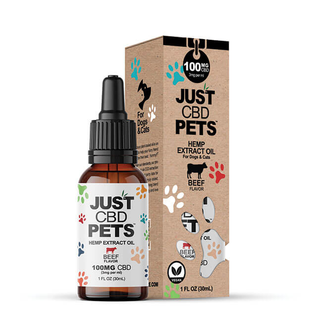 Just CBD Pet Tinctures for dogs Beef 100mg