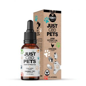 Just CBD Pet Tinctures for dogs Chicken 100mg