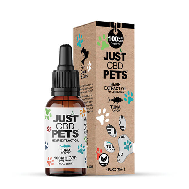 Just CBD Pet Tinctures for cats Tuna 100mg