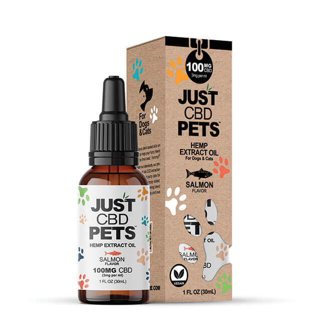 Just CBD Pet Tinctures for cats Salmon 100mg