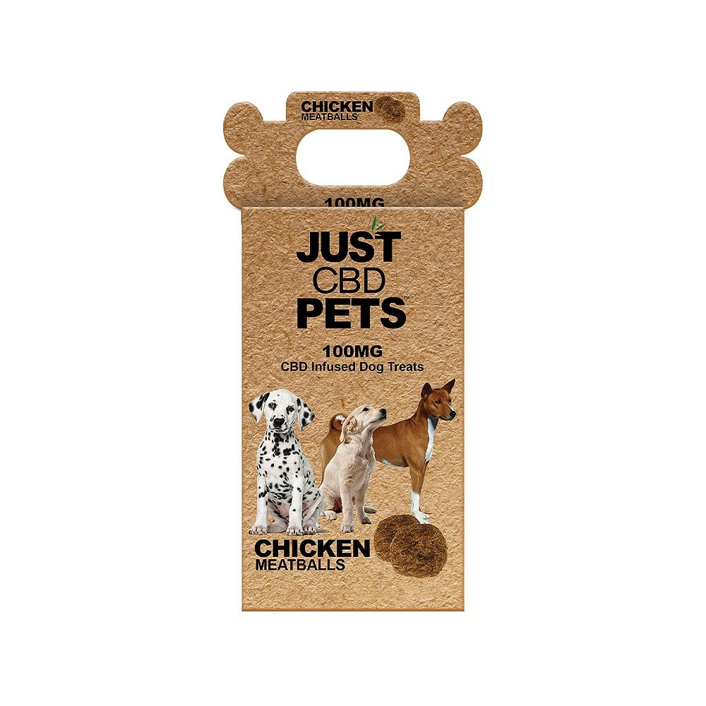 CBD Dog Pet Treats 100mg Chicken Meatballs