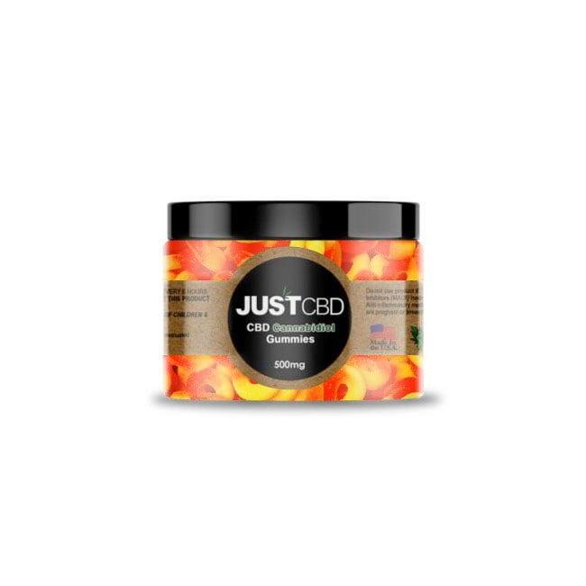 JustCBD Gummy Peach Rings 500mg
