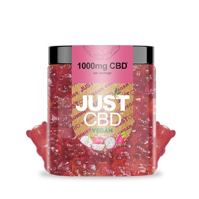 CBD Vegan Dragon Fruit Gummies 1000mg