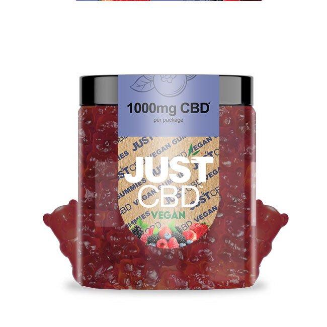CBD Vegan Mixed Berries Gummies 1000mg