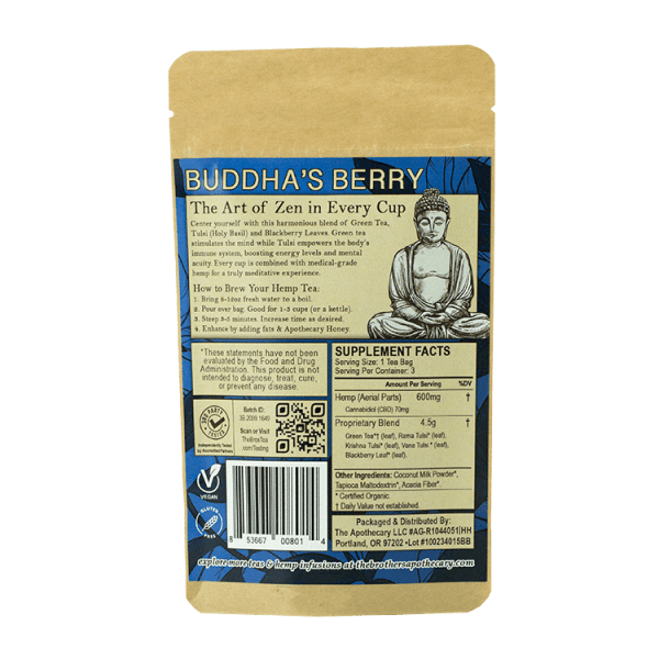 The Brothers Apothecary Buddha's Berry CBD Tea 1pk