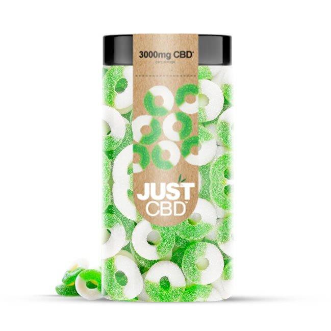 JustCBD CBD gummy Apple-rings-3000