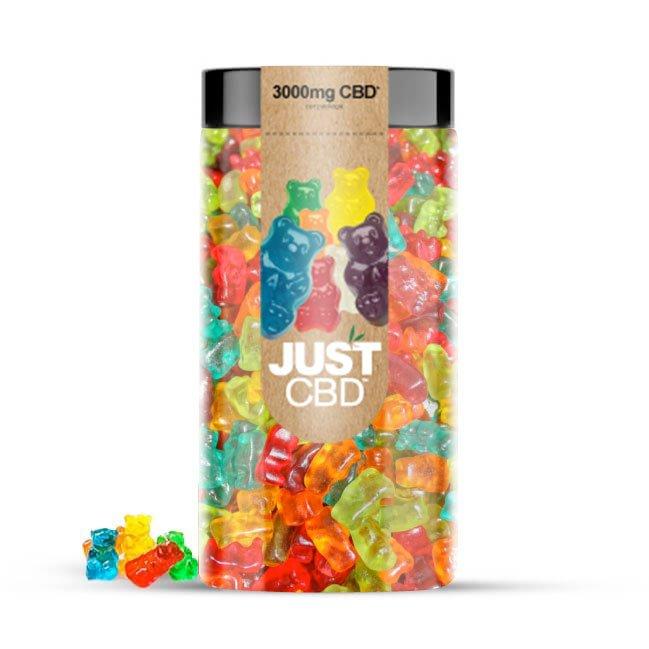 JustCBD CBD gummy Clear-Bears-3000