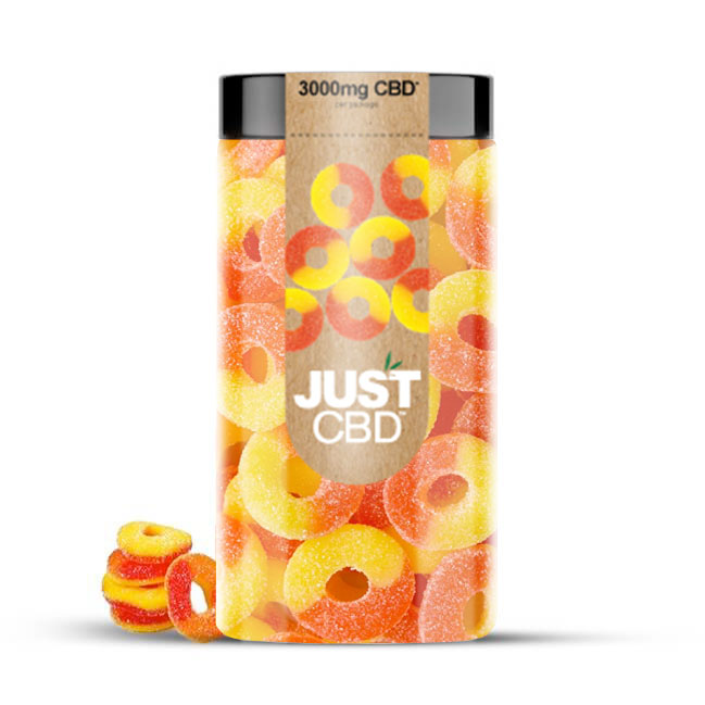JustCBD CBD gummy Peach-Rings-3000