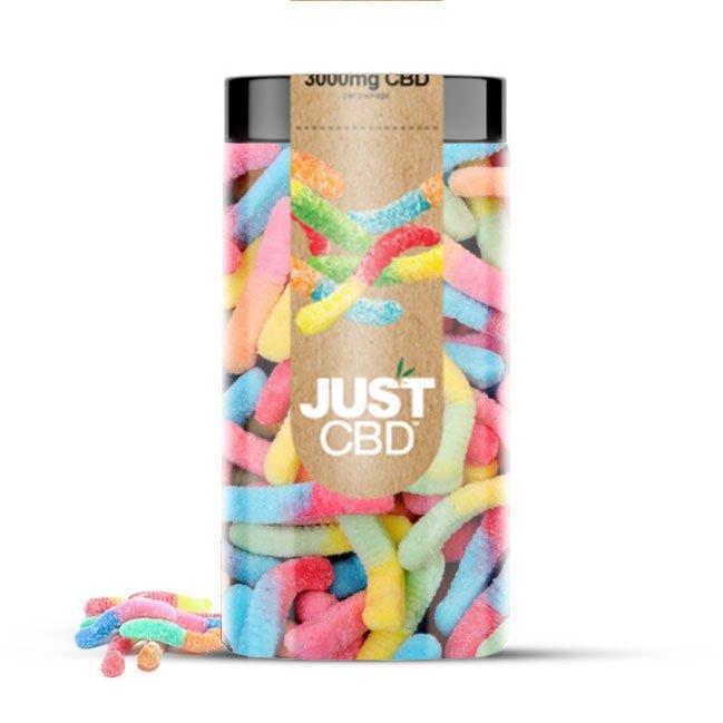 JustCBD CBD gummy Sour-Worms-3000